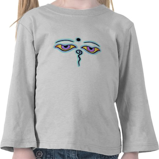 Trullo Buda Eyes.png de la lavanda Camisetas