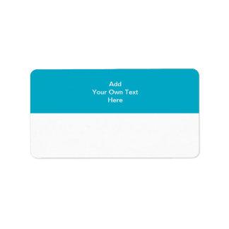 Trullo con el área y el texto blancos etiquetas de dirección