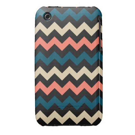 Trullo coralino Chevron Case-Mate iPhone 3 Carcasa