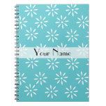 Trullo de Customizeable y cuaderno de la flor blan