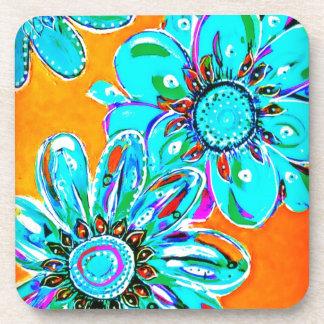 Trullo de IMG_3085-0 jpgbright coloreado floral Posavasos De Bebida