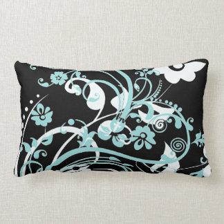Trullo de la aguamarina y regalos florales negros  almohadas