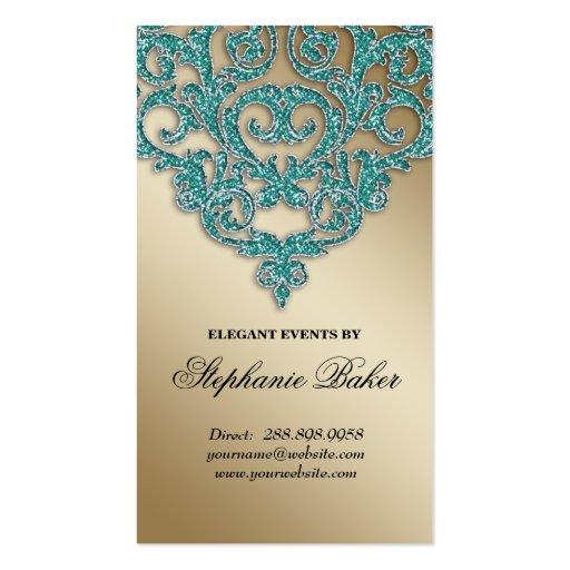 Trullo de la chispa del oro del damasco de la tarjetas de visita