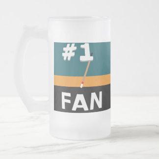 Trullo de la fan de hockey #1, naranja, y taza del