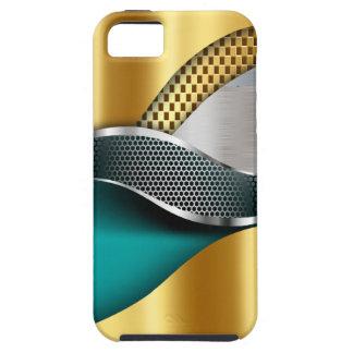 Trullo de la malla de la plata del oro del coche funda para iPhone SE/5/5s