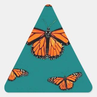 Trullo de la migración de las mariposas de monarca calcomanías de triangulos personalizadas