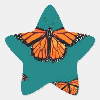 Trullo de la migración de las mariposas de monarca calcomanía cuadrada