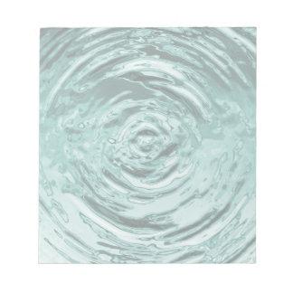 Trullo de la ondulación del agua bloc de notas
