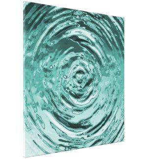 Trullo de la ondulación del agua impresión en lienzo