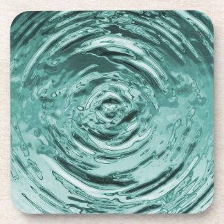 Trullo de la ondulación del agua posavasos