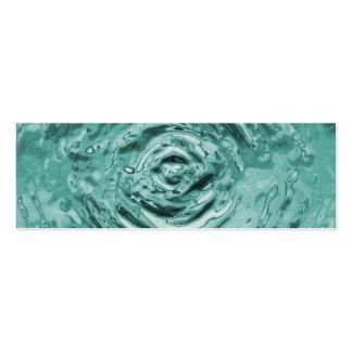Trullo de la ondulación del agua tarjetas de visita mini