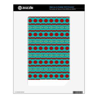Trullo de la piel de Barnes & Noble NOOKcolor y di Calcomanías Para NOOK Color