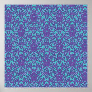 Trullo de la púrpura del cordón del damasco impresiones