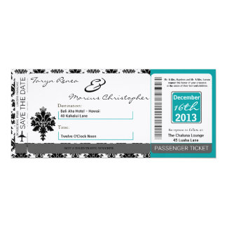 Trullo de lino del negro de la invitación del boda invitación 10,1 x 23,5 cm