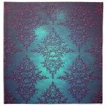 Trullo de lujo al modelo púrpura del damasco servilletas
