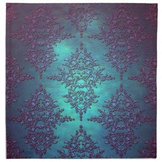 Trullo de lujo al modelo púrpura del damasco servilletas de papel