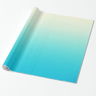 Trullo de moda de la aguamarina a la pendiente papel de regalo