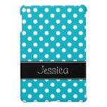 Trullo de muy buen gusto azul y lunares negros per iPad mini carcasas