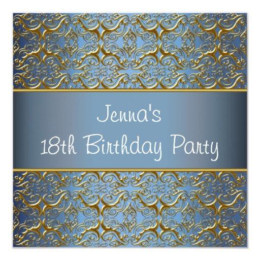 Trullo décimo octavo de la invitación de la fiesta