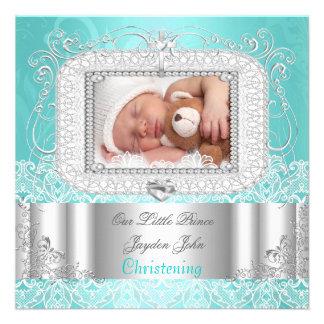 Trullo del bautismo del bautizo del chica del bebé invitación