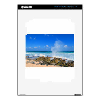 Trullo del canalón de agua del chapoteo de la onda pegatina skin para iPad 3