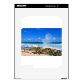 Trullo del canalón de agua del chapoteo de la onda skins para iPad 2
