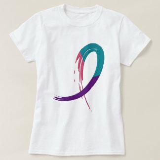 Trullo del cáncer de tiroides, púrpura, y cinta A4 Camisas