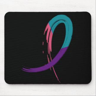 Trullo del cáncer de tiroides, púrpura, y cinta A4 Mousepad