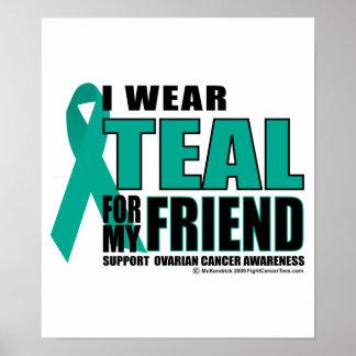 Trullo del cáncer ovárico para el amigo póster
