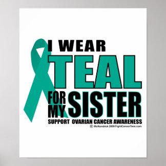 Trullo del cáncer ovárico para la hermana póster