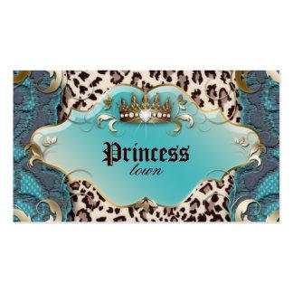 Trullo del cordón del leopardo de la tarjeta de vi tarjetas de visita