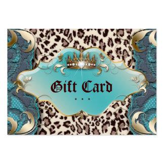Trullo del cordón del leopardo del vale de la tarjetas de visita grandes