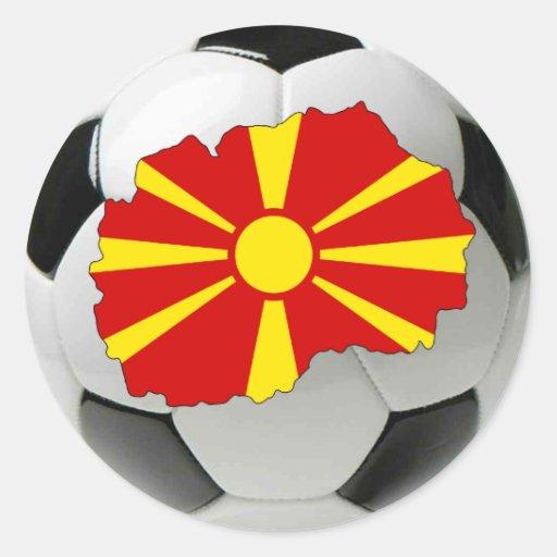 Trullo del nacional de Macedonia Pegatina Redonda