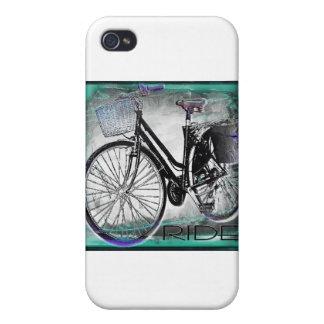 Trullo del paseo de la bici del vintage iPhone 4 fundas