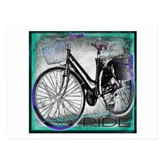 Trullo del paseo de la bici del vintage postal