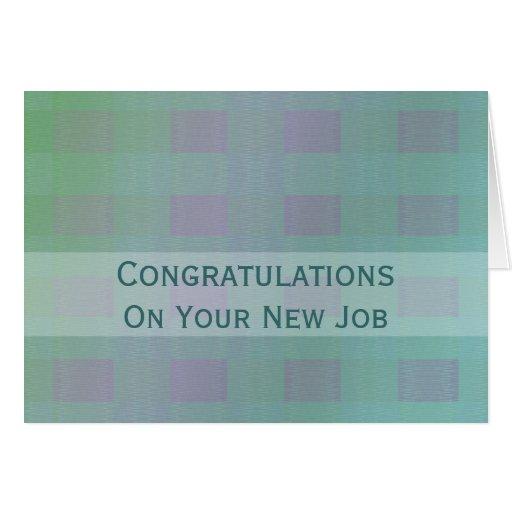 Trullo del pastel del trabajo de la enhorabuena tarjeta de felicitación