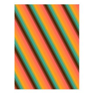 Trullo del verano de la raya del caramelo tarjeta postal