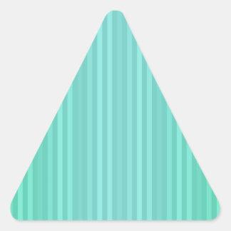 Trullo del verde azul de Aquamarine de las rayas Pegatina Triangular