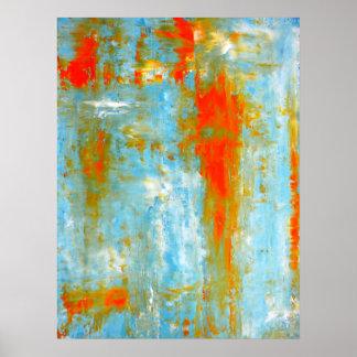 Trullo e impresión anaranjada del poster del arte