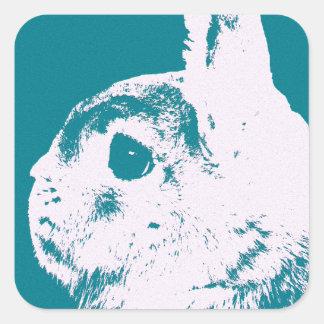Trullo enano del conejo de Netherland Pegatina Cuadrada