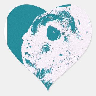 Trullo enano del conejo de Netherland Pegatina En Forma De Corazón