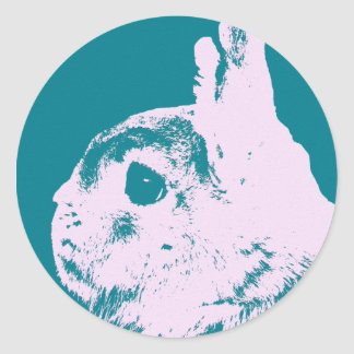 Trullo enano del conejo de Netherland Pegatina Redonda