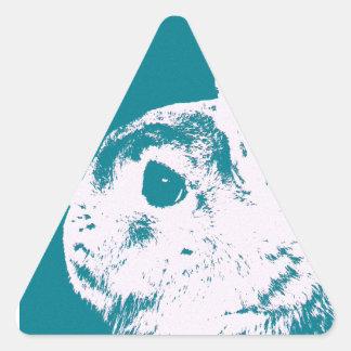 Trullo enano del conejo de Netherland Pegatina Triangular