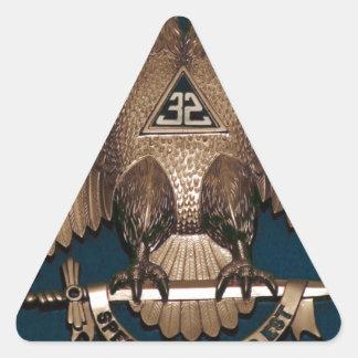 Trullo escocés del rito 32 grados pegatina triangular