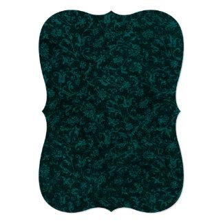 Trullo floral de la turquesa del vintage invitación 12,7 x 17,8 cm