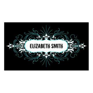 Trullo gótico precioso/negro de la tarjeta de visi plantilla de tarjeta de visita