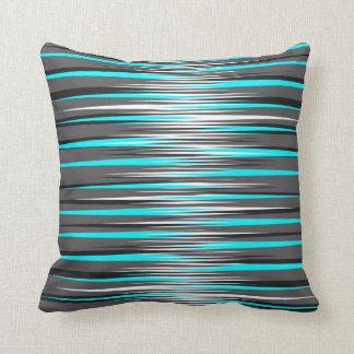 Trullo, gris, blanco, y rayas negras almohadas