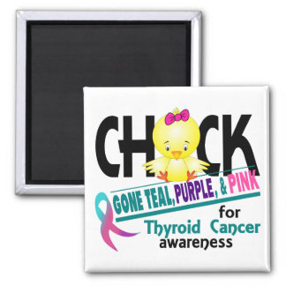 Trullo ido polluelo, púrpura, y rosa 2 del cáncer  iman de nevera