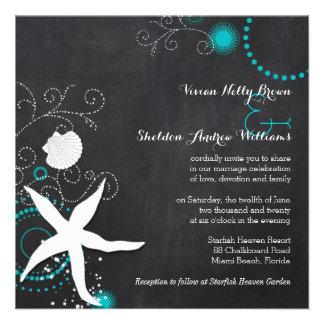 Trullo, invitaciones blancas del boda de playa de  comunicado personalizado