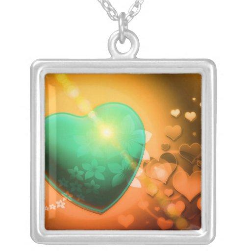 Trullo juguetón romántico del naranja del amor del pendiente